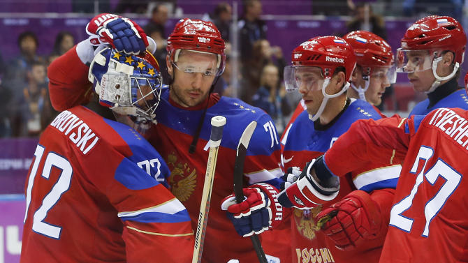 Russia beats Norway 4-0, dodges hockey elimination