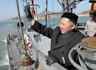 A photo released by the Korean Central News Agency on March 10, 2012 shows N.Korean leader Kim Jong-Un inspecting a naval vessel. North Korea held a national memorial service on Sunday to mark the 100th day since the death of leader Kim Jong-Il, hailing the country's nuclear weapons programme as his outstanding feat