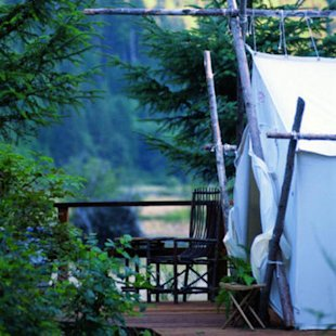 Romantic luxury tents