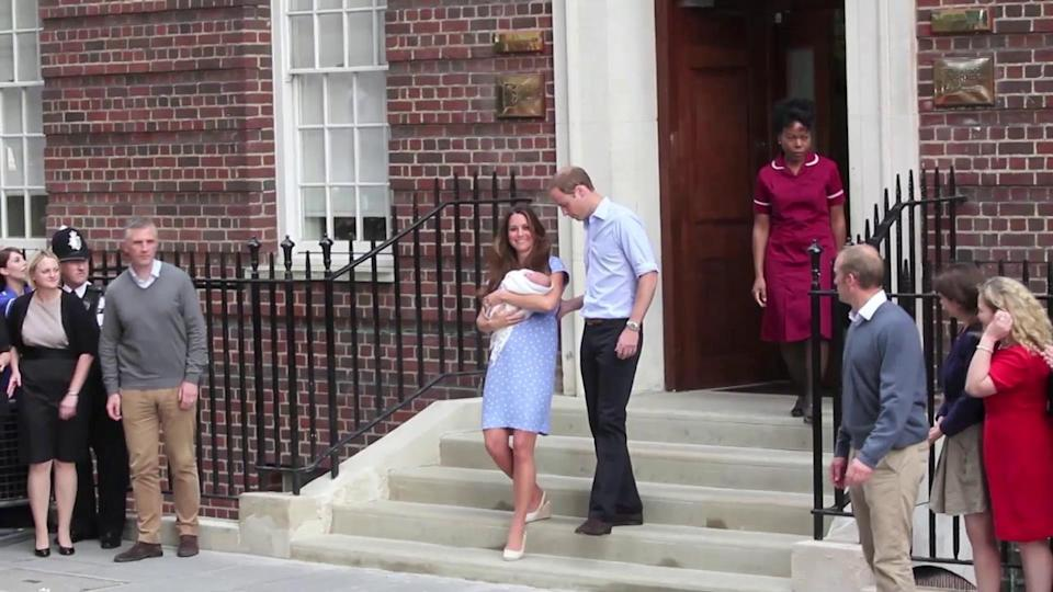Kate Middleton and Prince William Hit First Red Carpet After Son's Birth