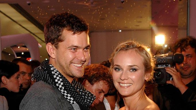 Joshua Jackson and Diane Kruger at the Just Cavalli New York Flagship store opening. - September 7, 2007