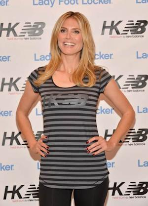 Heidi Klum is seen at the launch of her new collection 'Heidi Klum for New Balance' at Lady Foot Locker in Culver City, Calif., on March 14, 2013  -- Getty Images