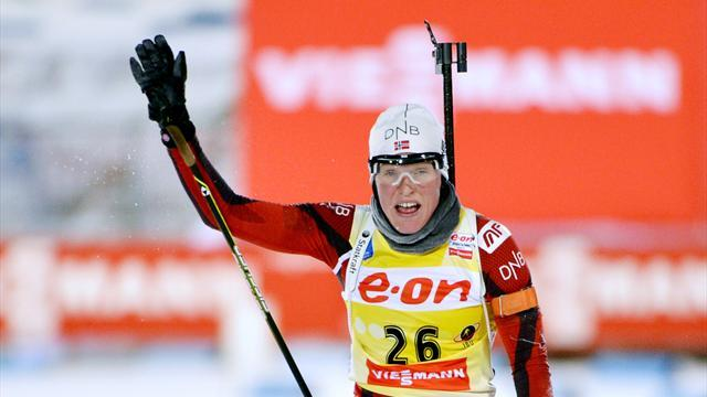 Biathlon - Berger doubles up in Ostersund