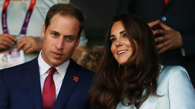 Britain's Catherine, Duchess of Cambridge, and Britain's Prince William, the Duke of Cambridge attend the Opening Ceremony at the 2012 Summer Olympics, Friday, July 27, 2012, in London. (AP Photo/David Goldman)