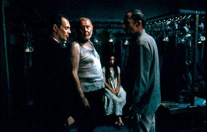 Steve Buscemi , Daniel Benzali , Kamelia Grigorova and David Chandler in Lions Gate's The Grey Zone