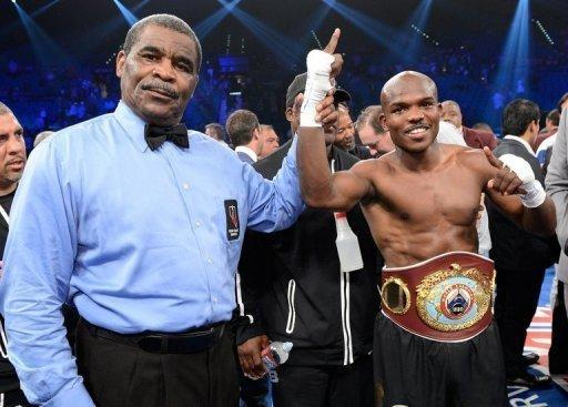 Timothy Bradley later appeared at the post-fight press conference in a wheelchair and said he had injured both ankles