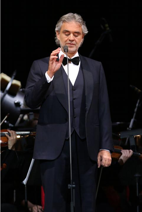 Andrea Bocelli Performs In Concert At Madison Square Garden On Wednesday Dec 17 2014 In New