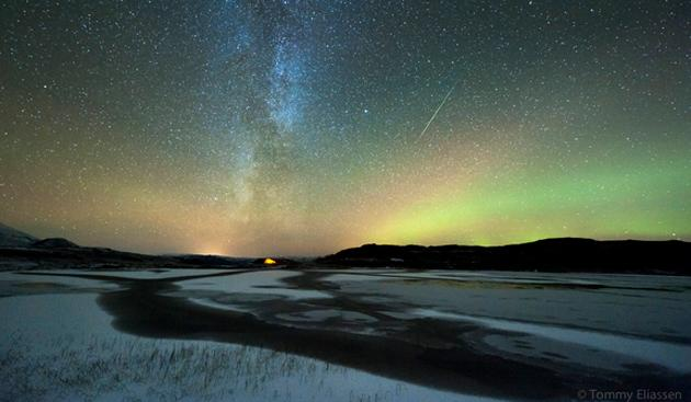 Stunning nighttime displays of meteors caught the attention of stargazers this year. The Orionid shower in October and the Leonid in November saw meteors zip across the sky. (Tommy Eliassen/SPACE.com)