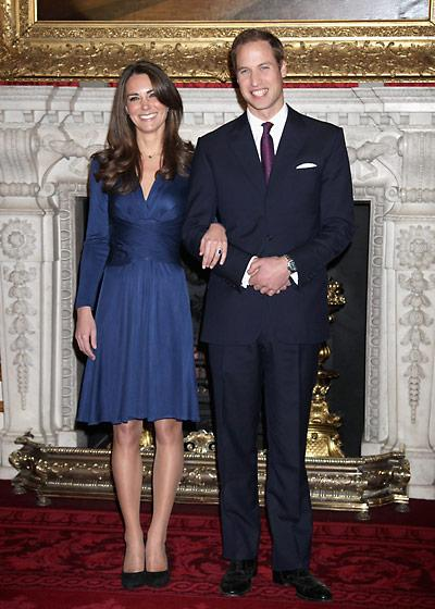 Duchess Catherine wore Issa to announce her engagement at St. James Palace, November 2010