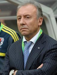 Japan's Italian coach Alberto Zaccheroni watches his side go down 3-0 to Brazil on June 15, 2013. Japan have now drawn two and lost eight of their meetings with the Selecao going back to 1989 and there were few positives for Zaccheroni