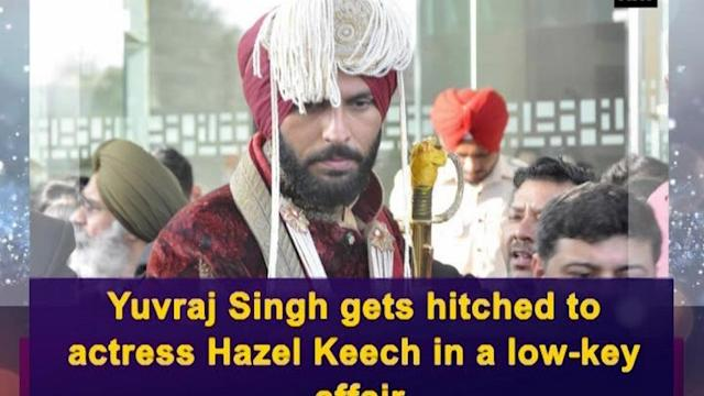 Yuvraj Singh gets hitched to actress Hazel Keech in a low-key affair