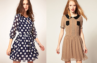 Terrific polka dot dresses for spring