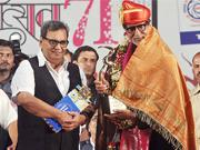 Amitabh Bachchan conferred Hridaynath Mangeshkar Award in traditional style