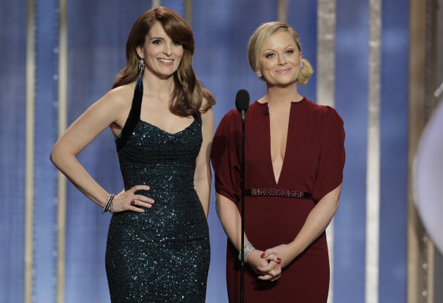 Tina Fey and Amy Poehler hosting the 2013 Globes