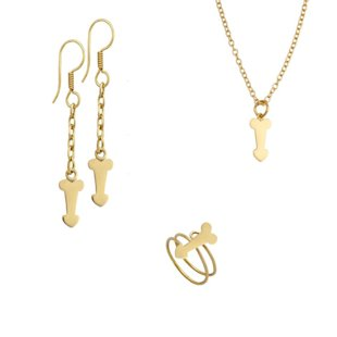 Penis earrings with chain detail, $15; Petite penis ring, $12; Penis charm pendant with chain, $20 (Sold out!)