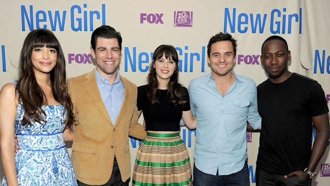 """""""New Girl"""" screening and Q&A at the Academy of Television Arts & Sciences - Hannah Simone, Max Greenfield, Zooey Deschanel, Jake Johnson, Lamorne Morris"""