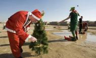 Troops Send Christmas Cheer From Front Lines
