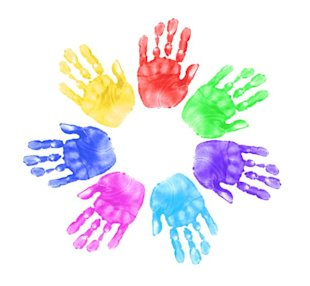 Four Critical Social Media Lessons I Learned From My 4 Year Old image child hand print