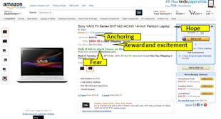 ­­­­Convince Me: The Psychology of a Persuasive Product Detail Page image Amazon VAIO with Yellow Tags 620x335