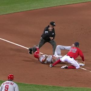 Trout steals third