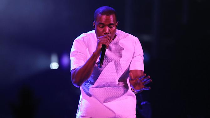 Kanye West performs at the BET Awards on Sunday, July 1, 2012, in Los Angeles. (Photo by Matt Sayles/Invision/AP)