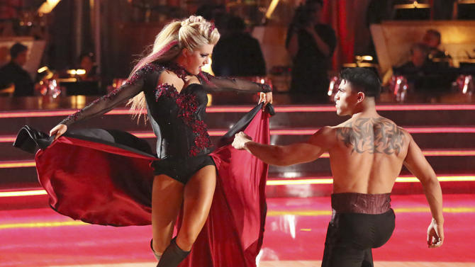 Lindsay Arnold and Victor Ortiz (4/8/13)