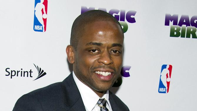 "FILE - This April 11, 2012 file photo shows Dule Hill at the opening night performance of the Broadway play ""Magic/Bird"" in New York. The actor and dancer who played a personal presidential aide aboard ""The West Wing"" got a chance to perform a song for hundreds of world leaders, including President Barack Obama, Monday night, Sept. 23, 2013, during a reception for U.N. leaders. (AP Photo/Charles Sykes, File)"