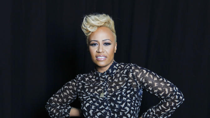 """In this April 25, 2012 file photo, Scottish soul and R&B recording artist Emeli Sandé poses for a portrait in New York. Sande has married boyfriend Adam Gouragine. Sande's U.S. representative confirmed that the R&B singer tied the knot with her longtime beau. No more details were provided. The 25-year-old released her debut, """"Our Versions of Events,"""" in July. (AP Photo/Amy Sussman, file)"""
