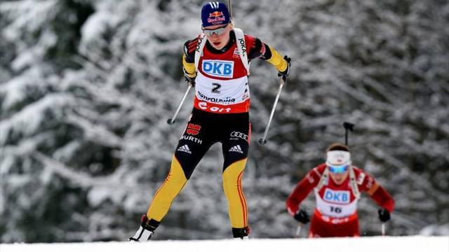 Biathlon - Germany claim first win in Anterselva