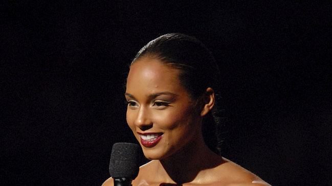 Singer Alicia Keys  onstage at the 2007 MTV Video Music Awards at the Palms Casino Resort.