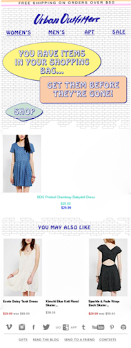 3 Ways to Bring Back Shopping Cart Abandoners image resizedimage226600 UrbanOutfittersEmail