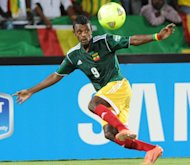Ethiopia's forward Getaneh Kebede, pictured in action in Rustenburg on January 29, 2013. Ethiopia won 2-1 in Botswana Saturday to stay two points ahead of fancied South Africa in a thrilling Group A race for World Cup survival