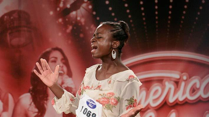 "San Diego Audition: Tiffany McCambell, 20, performs in front of the judges on the ""Hollywood or Bust"" episode of American Idol."