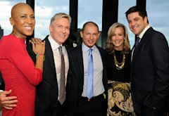 Robin Roberts, Sam Champion, Rubem Robierb, Lara Spencer and Josh Elliott   Photo Credits: Ida Mae Astute/ABC