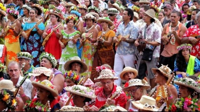 Tahití rompe el récord Guiness con ukeleles