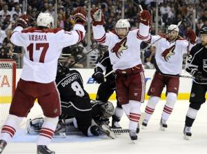 Coyotes beat LA Kings 2-0, avoid West final sweep