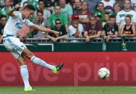 Schalke 04's Draxler is photographed during German Bundesliga first division soccer match against Werder Bremen in Bremen