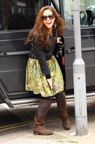Myleene Klass windswept in London
