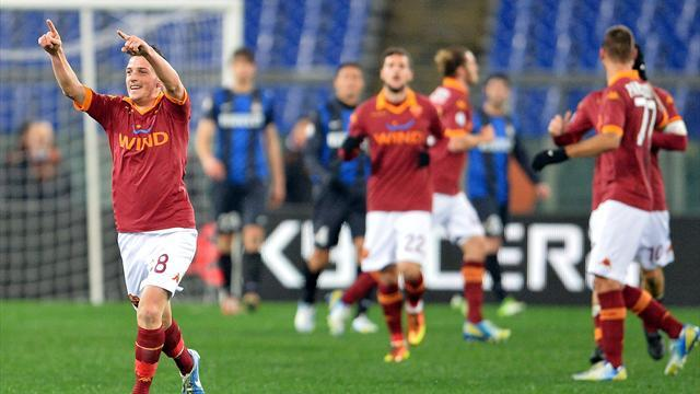 Italian Serie A - Roma edge Inter in Coppa semi first leg