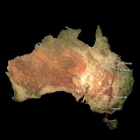 Scientists recently realized that separate chains of volcanic activity in Australia were actually caused by a single hotsput lurking under the Earth's lithosphere. The new superchain, called the Cosgrove Volcanic Track, spans 1,240 miles (2,000