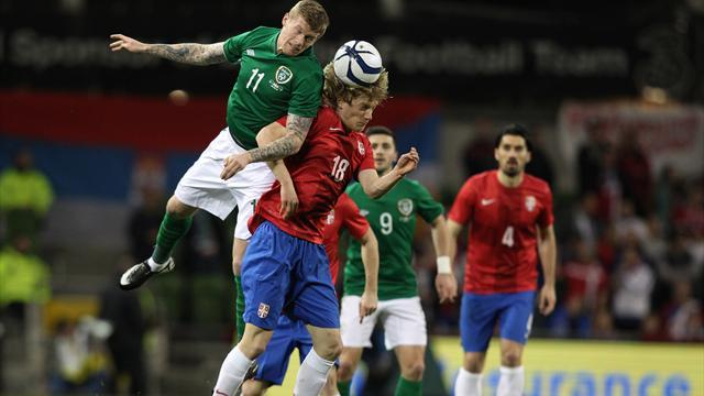 World Cup - Republic of Ireland beaten at home by Serbia