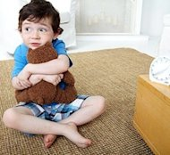 Boy with stuffed bear