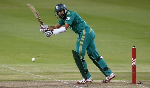 South Africa's Hashim Amla plays a shot during the second Twenty20 cricket match against Pakistan in Cape Town