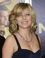 """FILE - This Dec. 7, 2011 file photo shows Stephanie Bongiovi, daughter of rocker Jon Bon Jovi, at the premiere of """"New Year's Eve"""" at Ziegfeld Theatre in New York. Authorities say Jon Bon Jovi's 19-year-old daughter is hospitalized after overdosing on heroin in a dorm at her upstate New York college. Town of Kirkland police say an ambulance was sent to Hamilton College early Wednesday, Nov. 14, 2012, after a report that a female had apparently overdosed on heroin. Police say Bongiovi and 21-year-old Ian Grant, also of Red Bank, were charged with drug possession. Both were issued tickets and ordered to appear in court at a later date. (AP Photo/Evan Agostini, file)"""