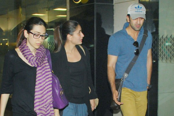 Spotted: Ranbir, Kareena, Karisma at the airport