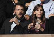 FILE - In this Aug. 27, 2088 file photo, actors Ben Affleck and Jennifer Garner are seen at the Democratic National Convention in Denver. Fewer celebrities is an emerging theme for the Democratic Convention this year. (AP Photo/Paul Sancya)