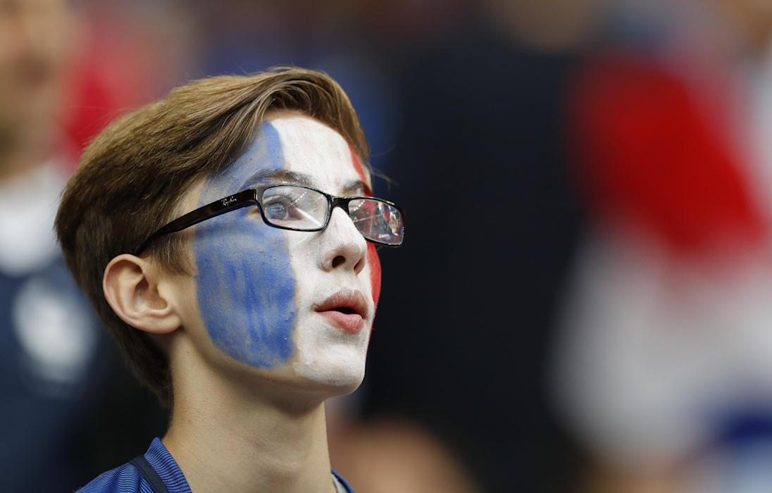 France fan before the game