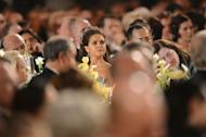 Princess Madeleine of Sweden (C) attends the Nobel Banquet. The 2012 Nobel laureates in medicine, literature, economics, physics and chemistry received their prizes from Swedish King Carl XVI Gustaf at a gala ceremony in Stockholm on Monday