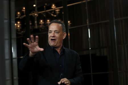 "Actor Hanks attends a photocall for the film ""Inferno"" during the 60th British Film Institute London Film Festival in London"