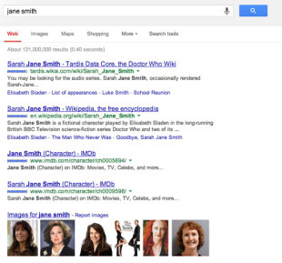 What Do People Find When They Search Your Name? image Jane Smith Google Results